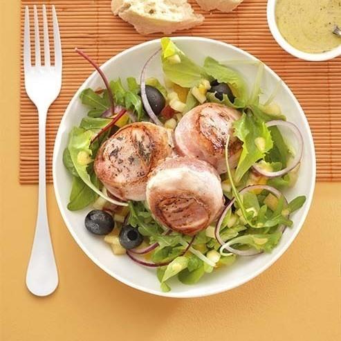 Salade met lauw geitenkaasje