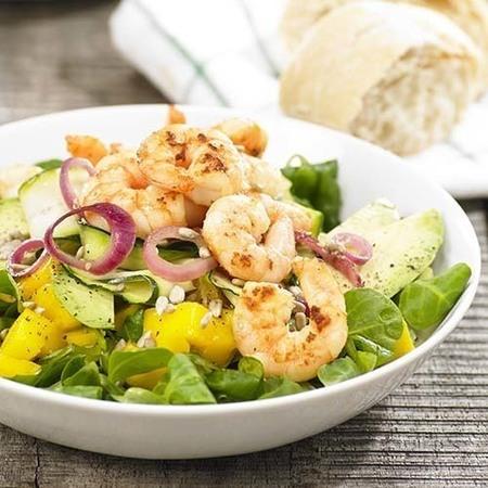 Salade scampi