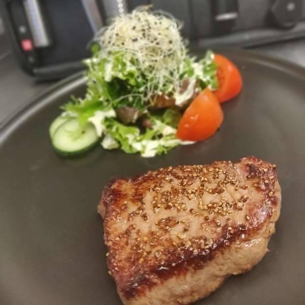 Steak met slaatje (350gr)